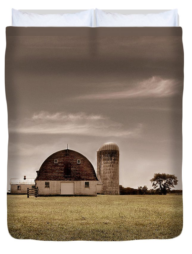 Farm Duvet Cover featuring the photograph Dry Earth Crumbles Between My Fingers And I Look To The Sky For Rain by Dana DiPasquale