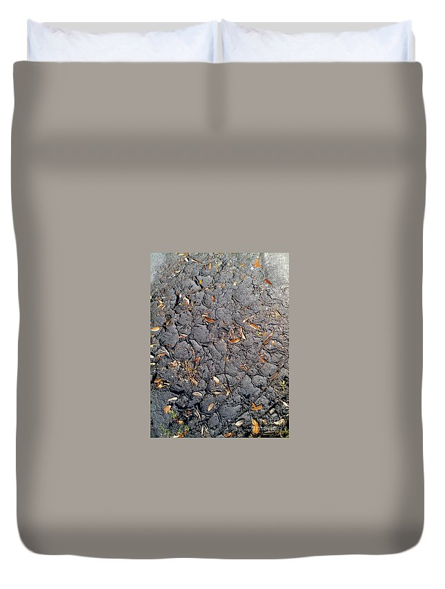 Duvet Cover featuring the painting Dry Mudd Psl by Dutch MARCHING