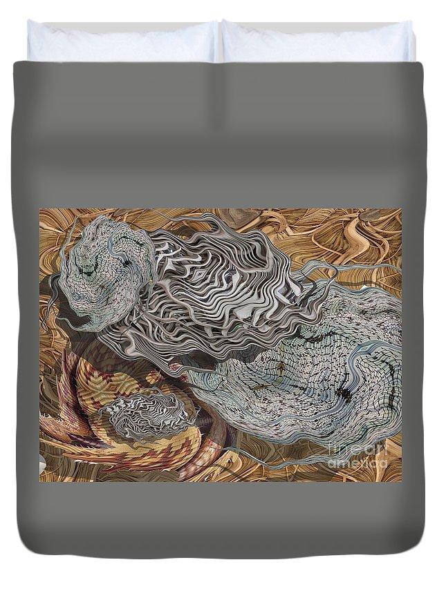 Digital Art Duvet Cover featuring the digital art Dry Organics by Ron Bissett