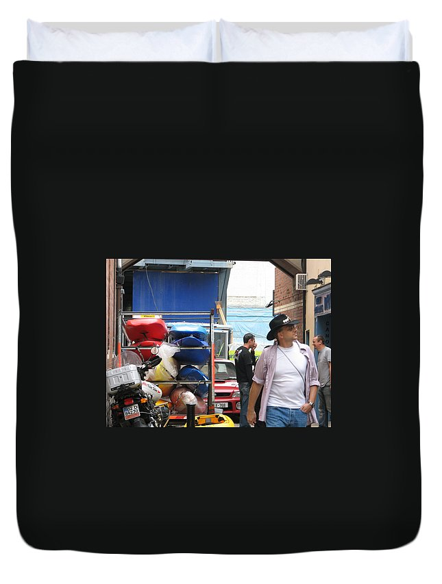 Alley Duvet Cover featuring the photograph Dublin Alley by Kelly Mezzapelle