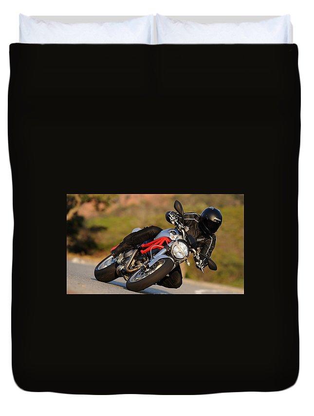 Ducati Duvet Cover featuring the digital art Ducati by Bert Mailer
