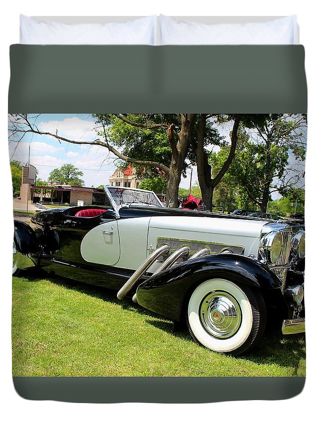 Car Duvet Cover featuring the photograph Duesenberg I by Michiale Schneider