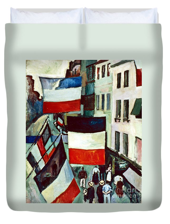 1906 Duvet Cover featuring the photograph Dufy: Flags, 1906 by Granger