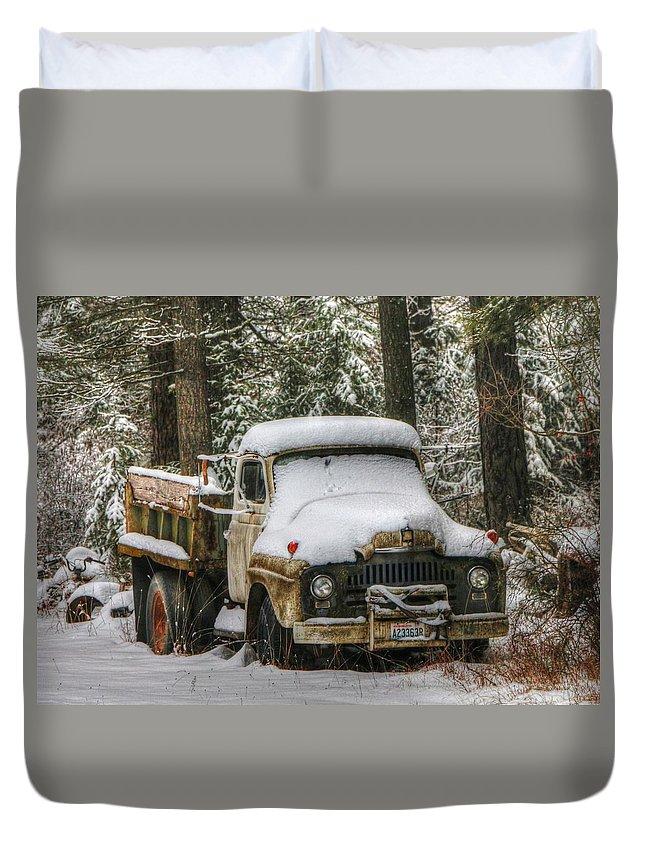 Dump Truck Duvet Cover featuring the photograph Dump Truck by Wild Fire