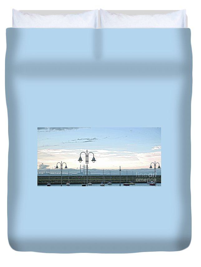 Dun Laoghaire Duvet Cover featuring the photograph Dun Laoghaire 2 by Alex Art and Photo