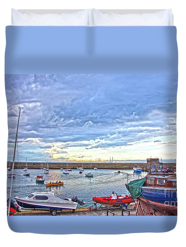 Dun Laoghaire Duvet Cover featuring the photograph Dun Laoghaire 24 by Alex Art and Photo
