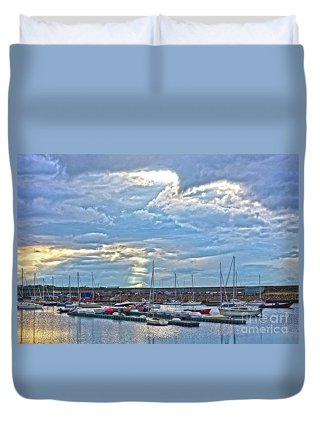 Dun Laoghaire Duvet Cover featuring the photograph Dun Laoghaire 32 by Alex Art and Photo