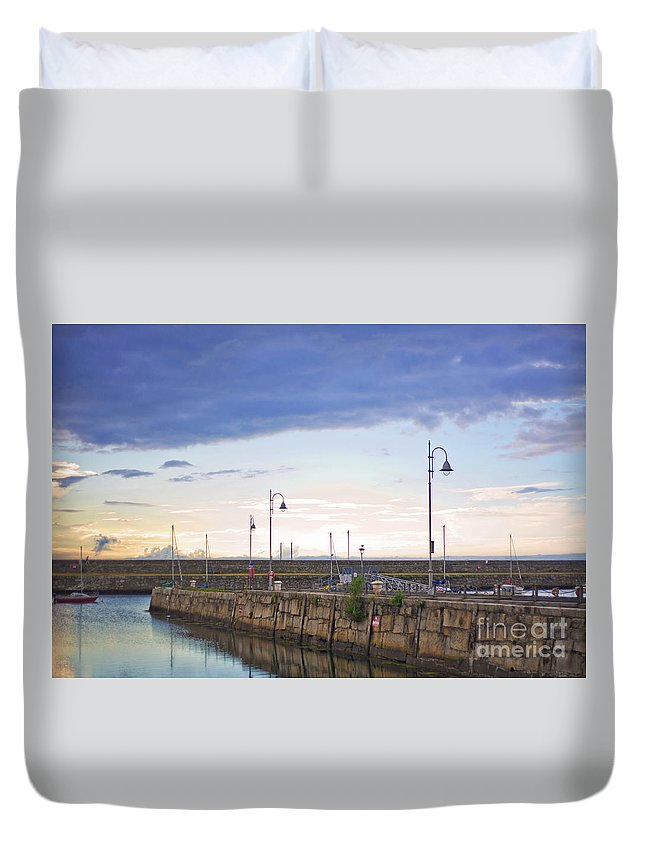 Dun Laoghaire Duvet Cover featuring the photograph Dun Laoghaire 34 by Alex Art and Photo