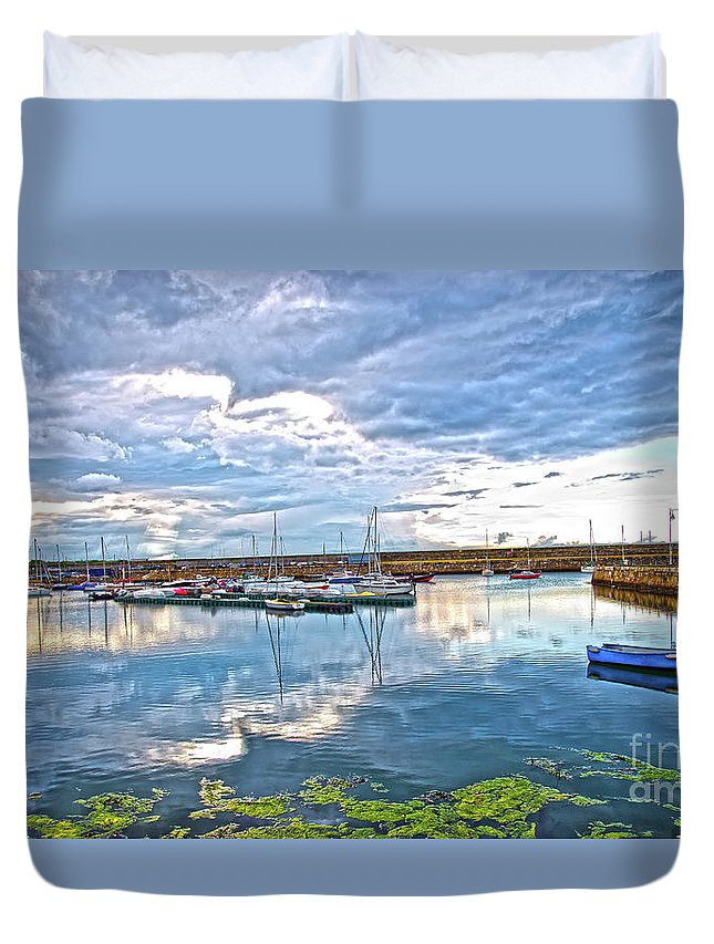 Dun Laoghaire Duvet Cover featuring the photograph Dun Laoghaire 37 by Alex Art and Photo