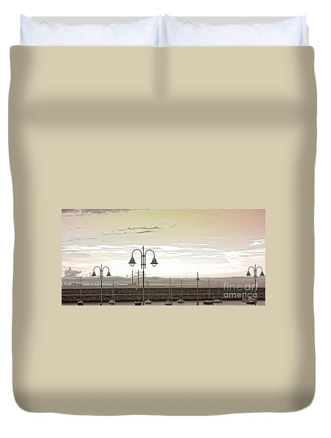 Dun Laoghaire Duvet Cover featuring the photograph Dun Laoghaire 39 by Alex Art and Photo
