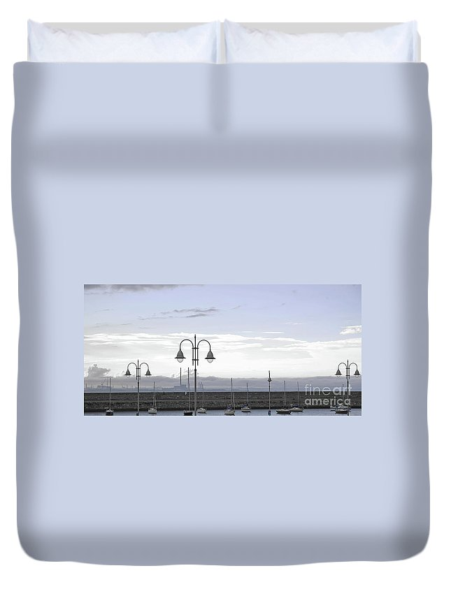Dun Laoghaire Duvet Cover featuring the photograph Dun Laoghaire 42 by Alex Art and Photo