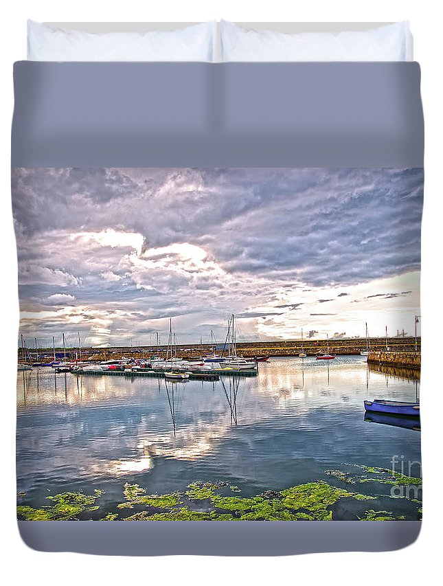 Dun Laoghaire Duvet Cover featuring the photograph Dun Laoghaire 47 by Alex Art and Photo