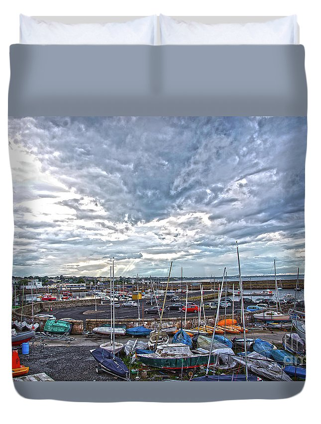 Dun Laoghaire Duvet Cover featuring the photograph Dun Laoghaire 9 by Alex Art and Photo