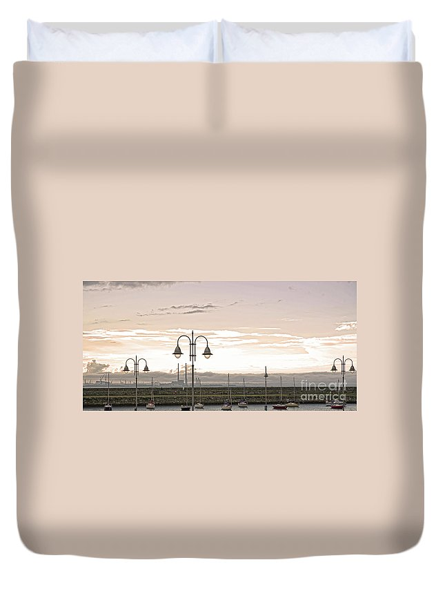 Dun Laoghaire Duvet Cover featuring the photograph Dun Laoghaire by Alex Art and Photo