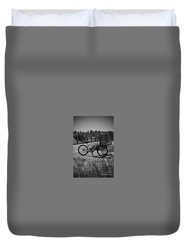 Rehoboth Duvet Cover featuring the photograph Dune Bike by Jost Houk