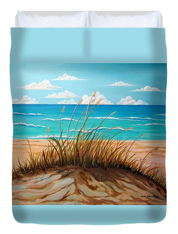 Sand Duvet Cover featuring the painting Dune by the Seashore by Carol Sabo