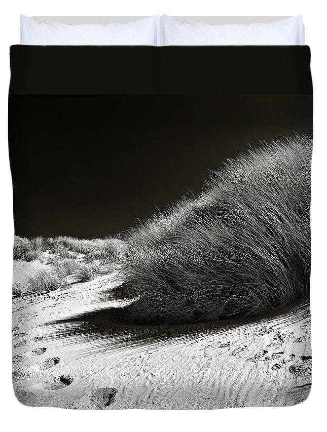 Dune Duvet Cover featuring the photograph Dune Grass by Dave Bowman