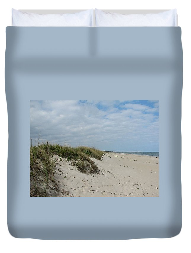 Florida Duvet Cover featuring the digital art Dunes1 by Lin Grosvenor