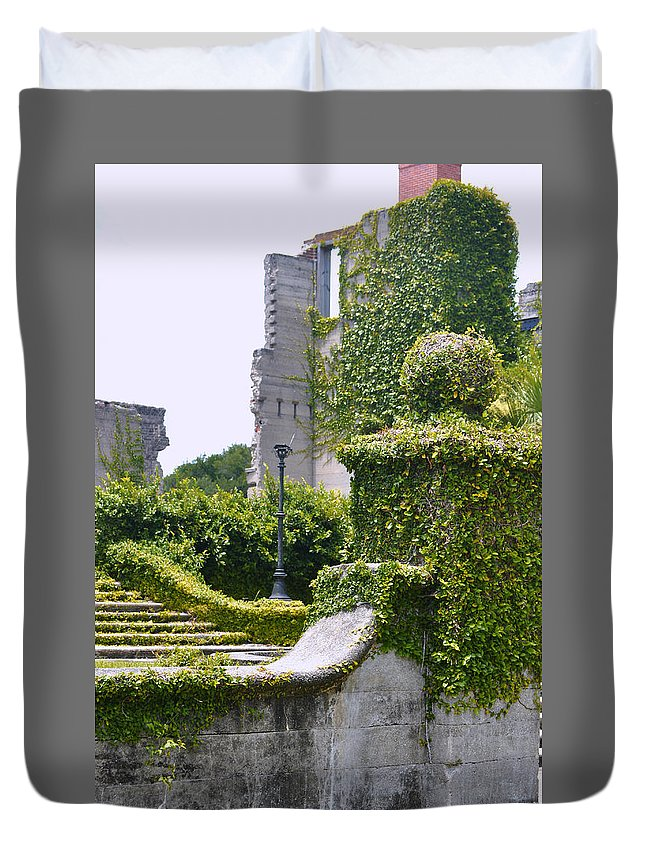 Dungeness Duvet Cover featuring the photograph Dungeness Ruins by Debra White