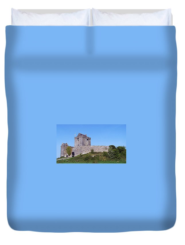 Irish Duvet Cover featuring the photograph Dunguaire Castle Kinvara Ireland by Teresa Mucha