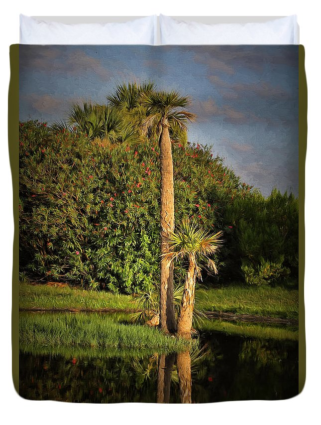 Deborah Benoit Duvet Cover featuring the photograph Dunlawton Pond by Deborah Benoit