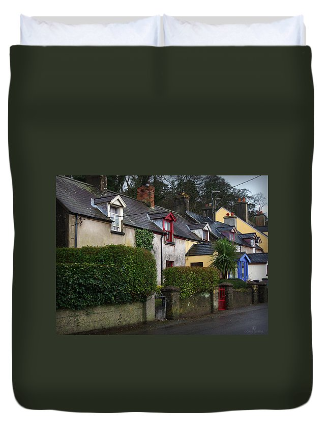 Ireland Duvet Cover featuring the photograph Dunmore Houses by Tim Nyberg