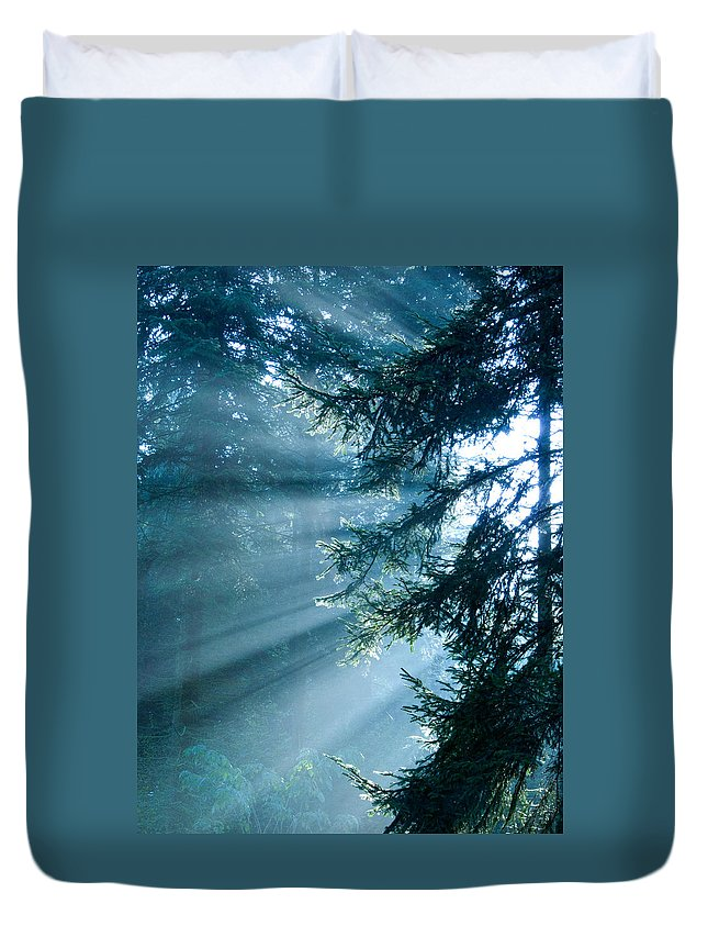 Magical Duvet Cover featuring the photograph Dusk In Ashenvale by Daniel Csoka