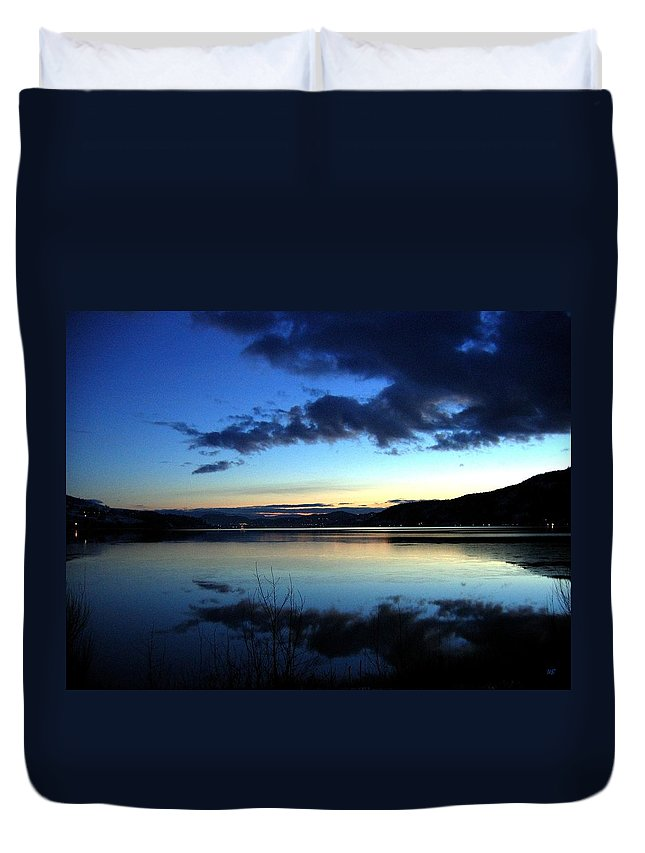 Dusk Duvet Cover featuring the photograph Dusk In December by Will Borden