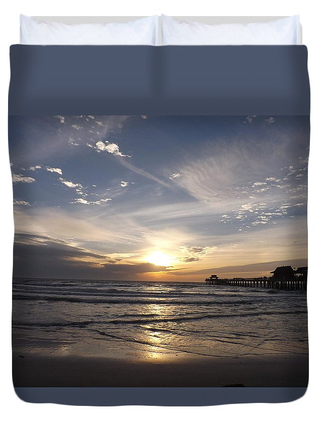 Dusk Duvet Cover featuring the photograph Dusk by Jacqueline Whitcomb