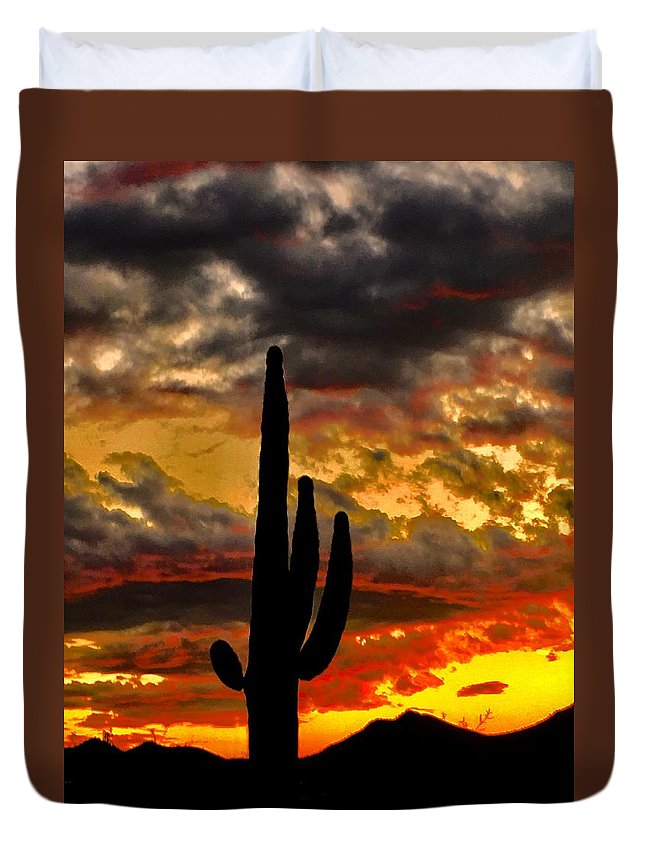 Duvet Cover featuring the photograph Dusk To Dawn by Joy Elizabeth