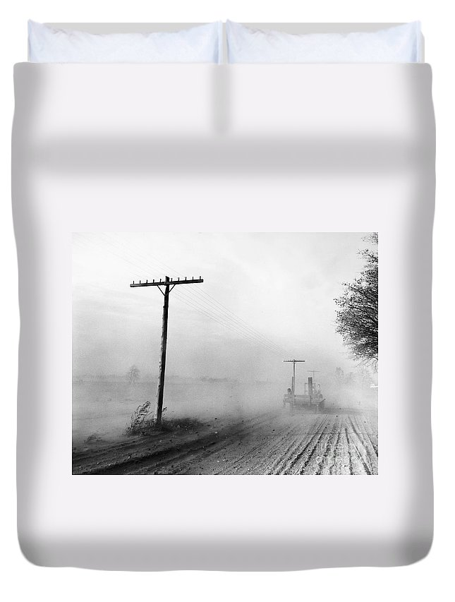 1936 Duvet Cover featuring the photograph Dust Bowl, C1936 by Granger