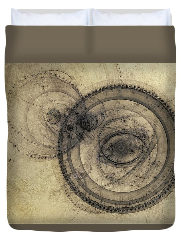 Digital Art Duvet Cover featuring the digital art Dust Off The Clock by Scott Norris