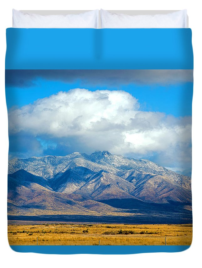 Dos Cabezas. Snow Duvet Cover featuring the photograph Dusting Of Snow, Dos Cabezas by Brent Hall