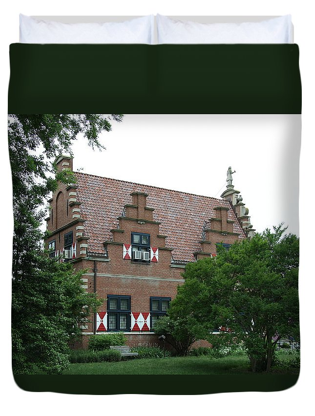 Dutch Duvet Cover featuring the photograph Dutch Building - Henlopen by Christiane Schulze Art And Photography