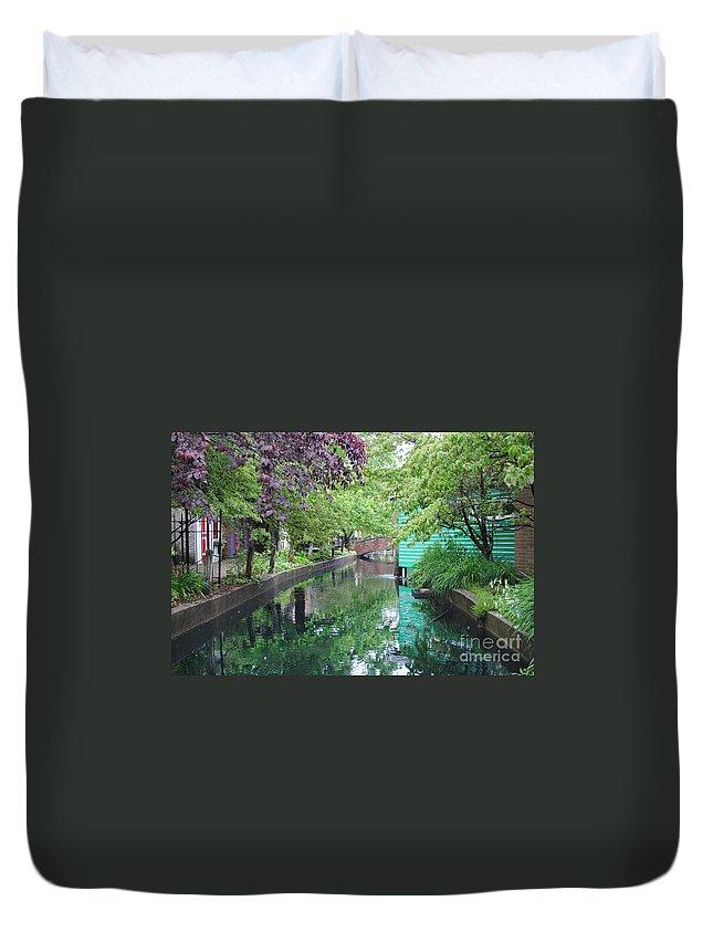 Dutch Duvet Cover featuring the photograph Dutch Canal by Jost Houk