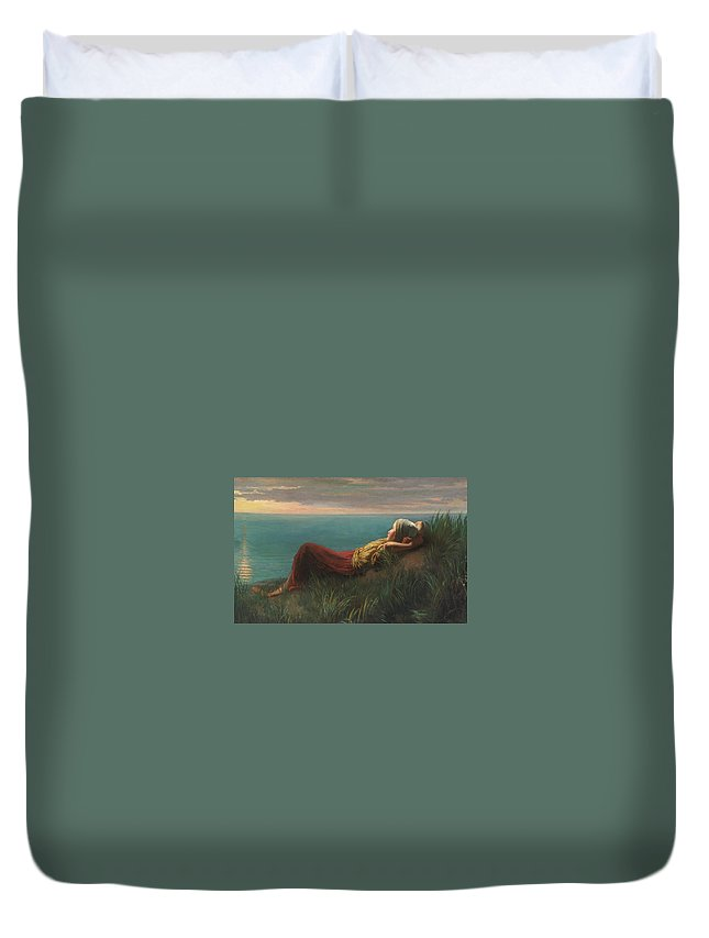 Jozef Israëls Dutch Dreams (dolce Far Niente) Duvet Cover featuring the painting Dutch Dreams by MotionAge Designs