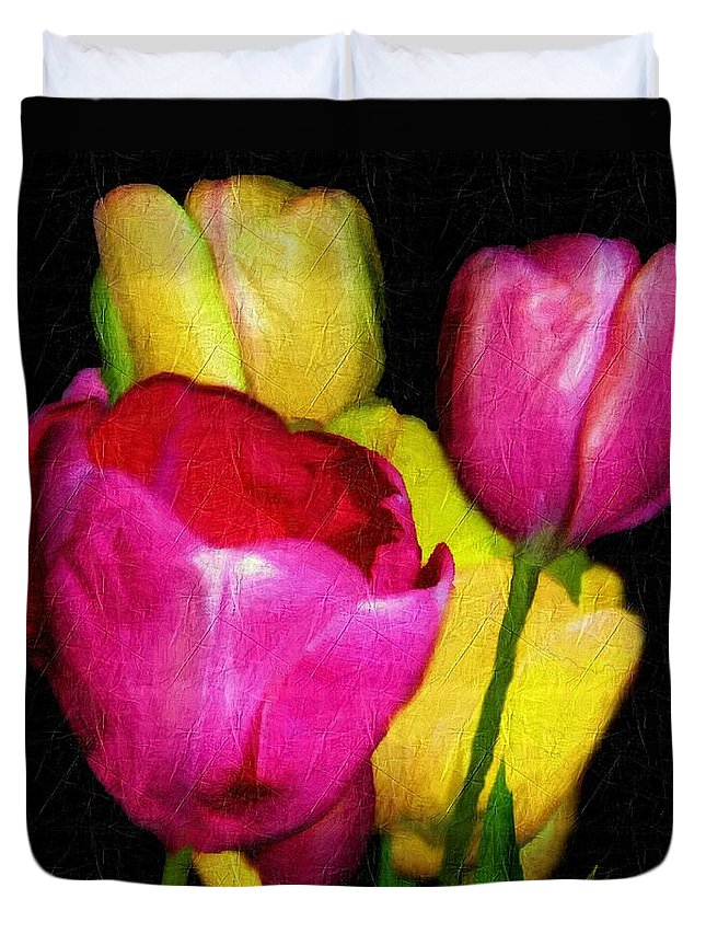 Tulips Duvet Cover featuring the painting Dutch Palette by RC DeWinter