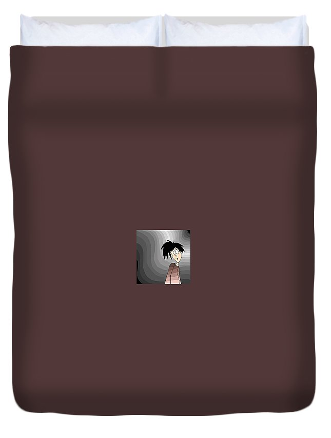 Dweeb Duvet Cover featuring the digital art Where Am I? by Lori Wadleigh