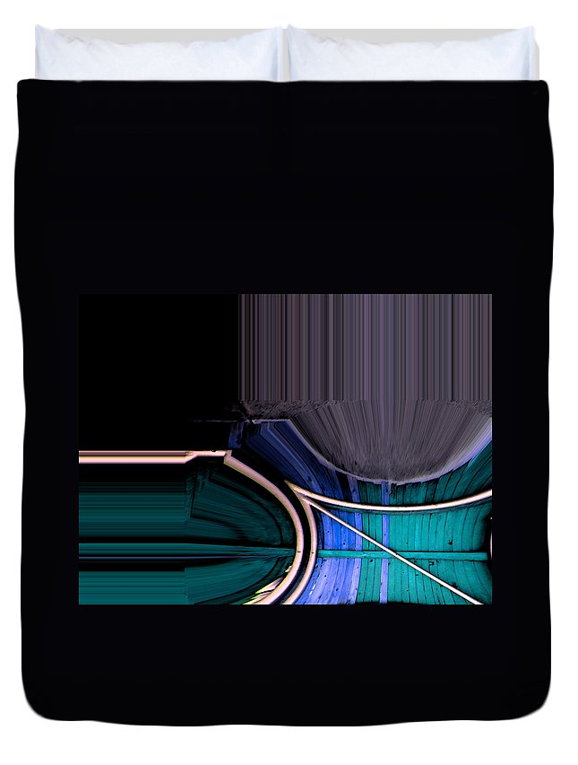 Abstract Duvet Cover featuring the digital art Dynamite Colors by Lenore Senior