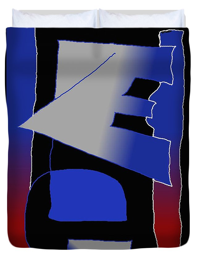 Eu Duvet Cover featuring the digital art E-likes-eu by Helmut Rottler