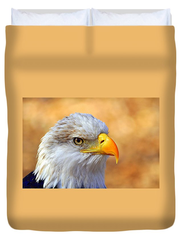 Eagle Duvet Cover featuring the photograph Eagle 7 by Marty Koch