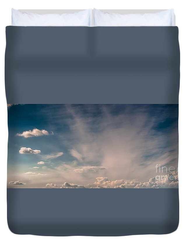 Summer Duvet Cover featuring the photograph Eagle And Height by Lyudmila Prokopenko