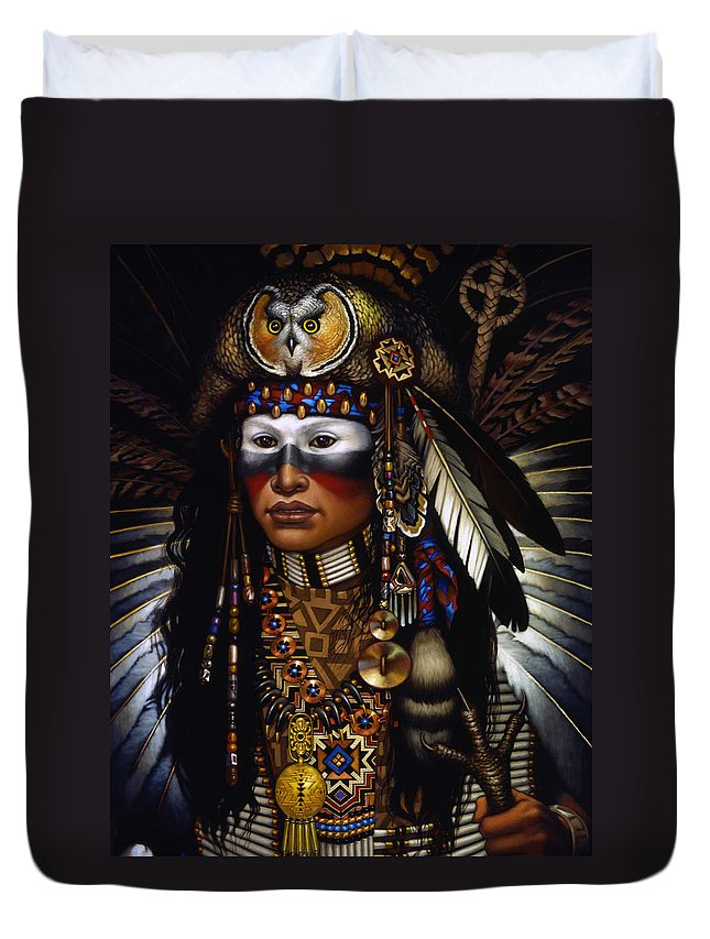 Indian Duvet Cover featuring the painting Eagle Claw by Jane Whiting Chrzanoska