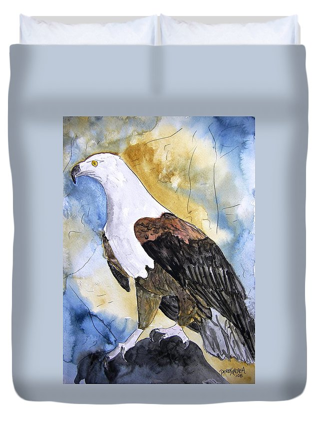 Realistic Duvet Cover featuring the painting Eagle by Derek Mccrea