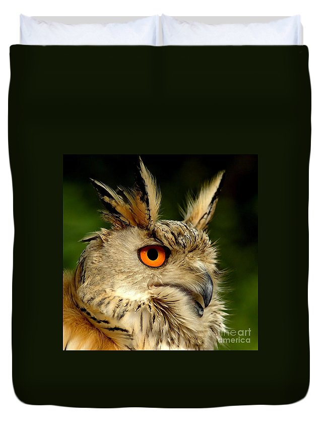 Wildlife Duvet Cover featuring the photograph Eagle Owl by Jacky Gerritsen
