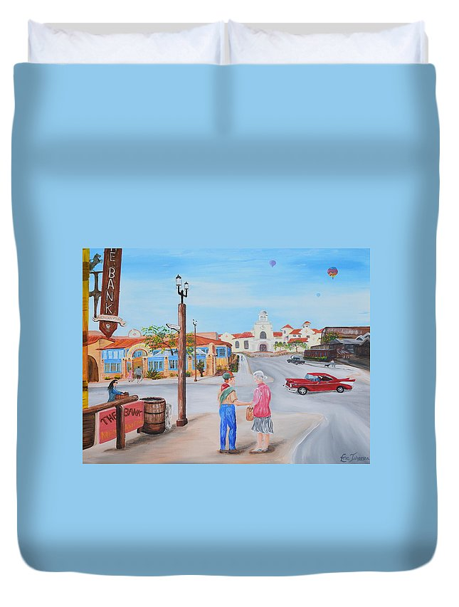#temeculahasheart Duvet Cover featuring the painting Eagle Scout by Eric Johansen
