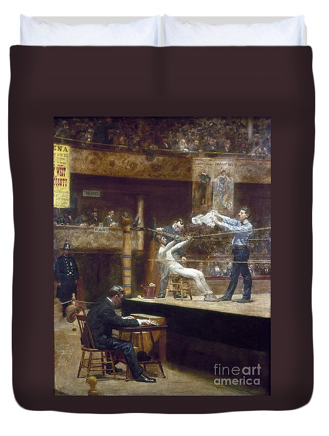 1899 Duvet Cover featuring the photograph Eakins: Between Rounds by Granger
