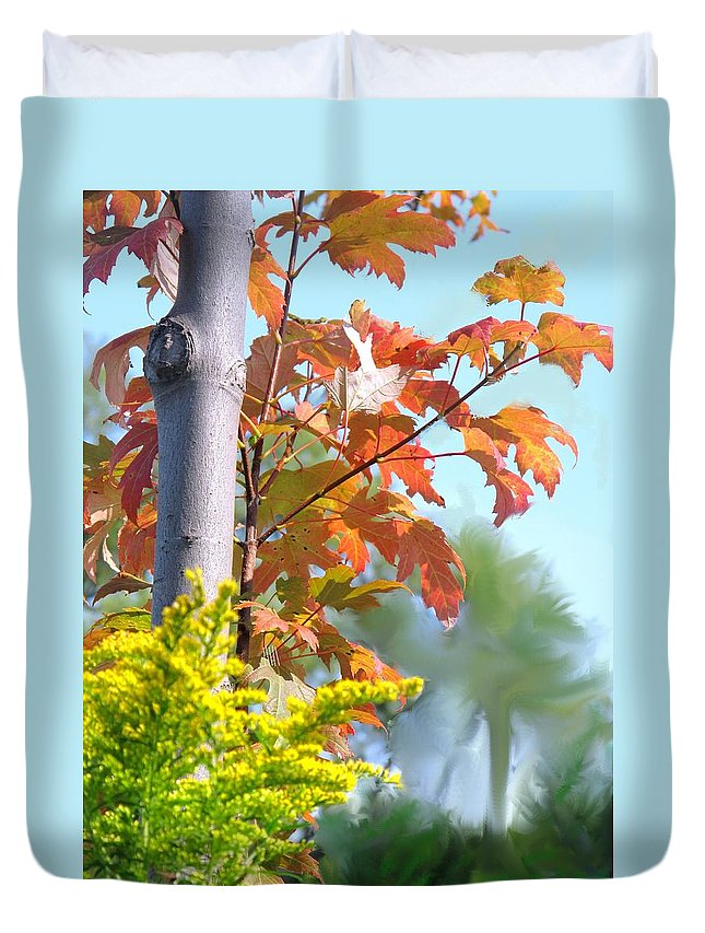 Maple Duvet Cover featuring the photograph Early Autumn by Ian MacDonald