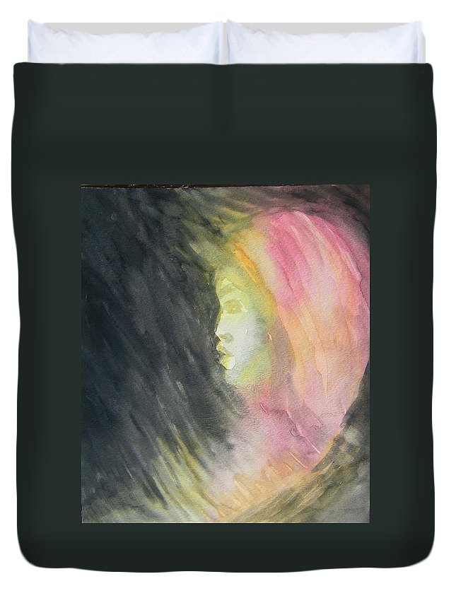 Abstract Duvet Cover featuring the painting Early Fear Well Taught by Judith Redman