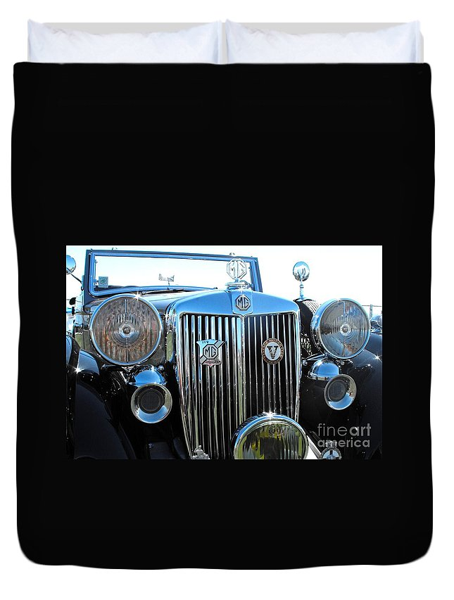 Mg Duvet Cover featuring the photograph Mg Tickford by Neil Zimmerman